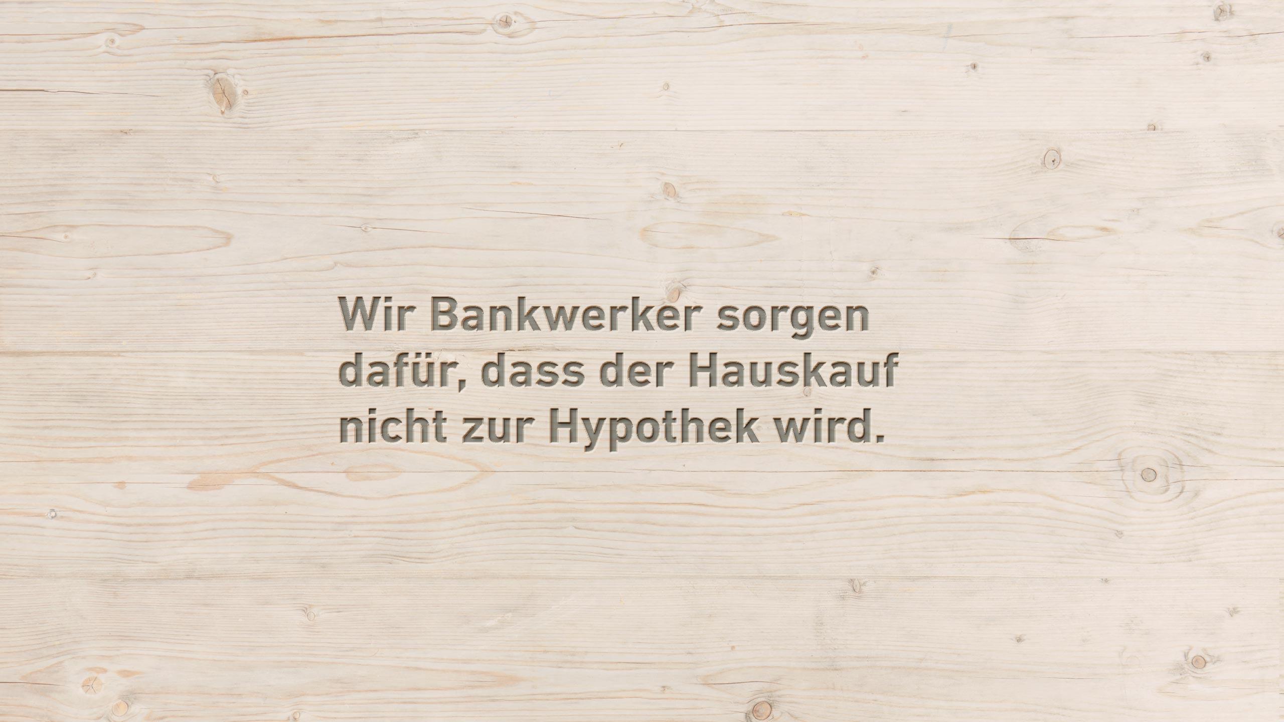 Individuelle Hypotheken - Bank Thalwil - die Bankwerker