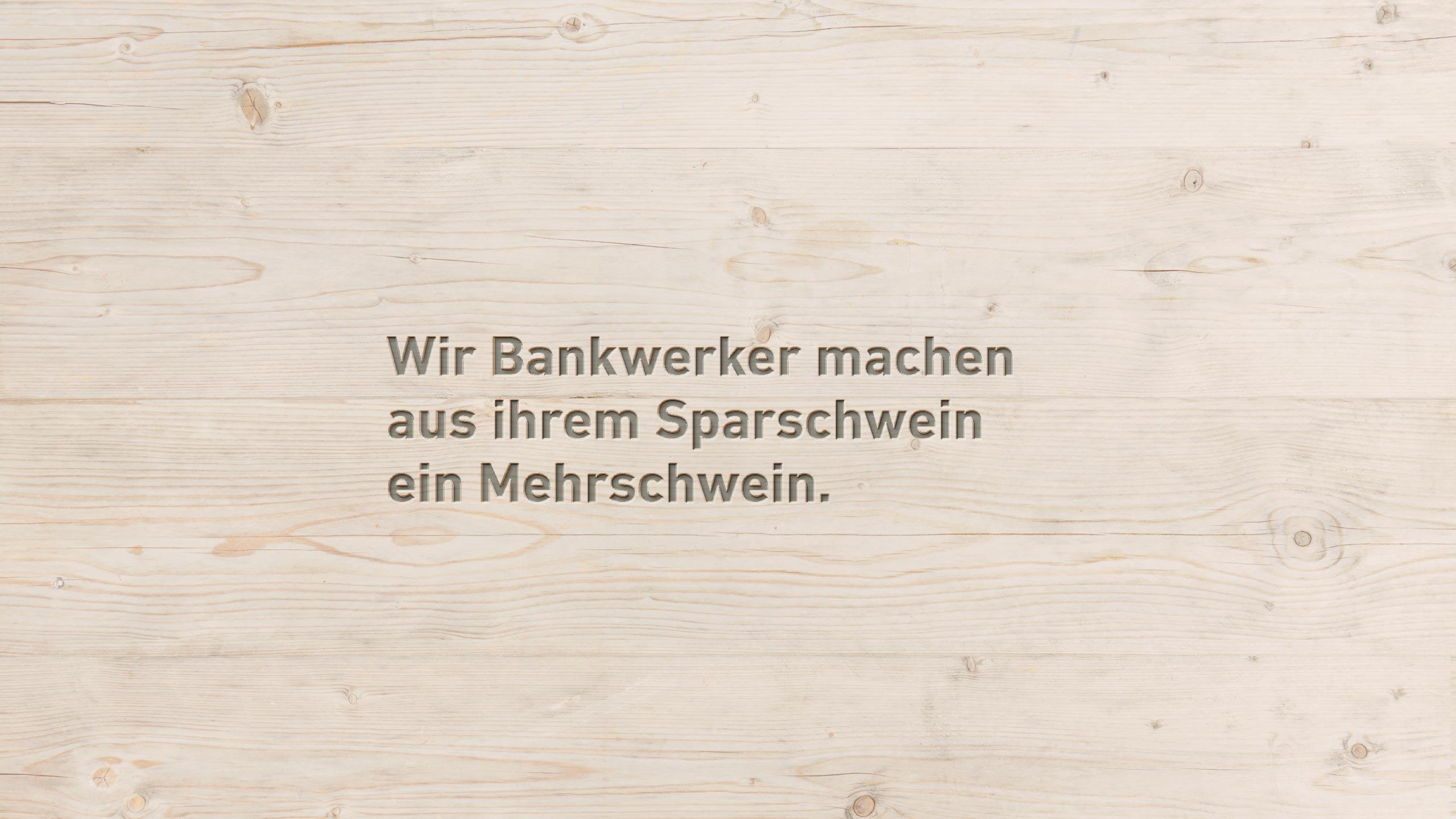 Sparkonten - Bank Thalwil - die Bankwerker